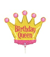 "14"" Airfill Only Mini Air Shape Birthday Queen Crown"