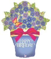 "33"" Foil Shape Balloon Birthday Potted Violets"