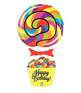 "40"" Foil Shape Balloon Lollipop Birthday"
