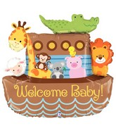 "37"" Foil Shape Balloon Noah's Ark Welcome Baby"
