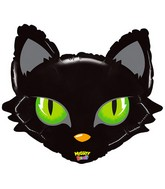 "28"" Mighty Bright Shape Balloon Mighty Cat Head"