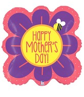 "23"" Foil Shape Balloon Square Flower Mother's Day"