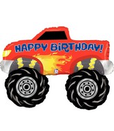 "40"" Foil Shape Balloon Monster Truck Birthday"