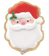 "24"" Foil Shape Balloon Santa Cookie"