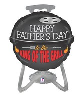 "32"" Foil Shape Balloon Father's Day King of the Grill"