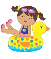 "41"" Foil Shape Balloon Girl Floatie"