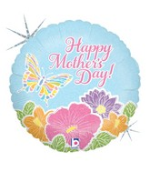 "18"" Holographic Balloon Pastel Butterfly Mother&#39s Day"