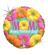 "18"" Holographic Balloon Mother's Day Bright Blooms"