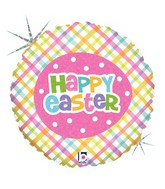 "9"" Airfill Only Holographic Springtime Easter Plaid"
