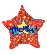 "19"" Star-Shaped Balloon Red Star Thanks"
