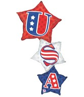"50"" U.S.A. Star Stacker Balloon"