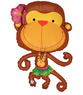 "39"" Large Linky Luau Monkey Balloon"