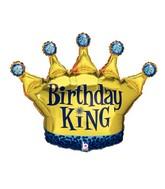 "36"" Foil Shape Balloon Birthday King Crown"