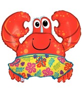 "36"" Beach Trunks Crab Large Balloon"