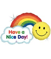 "45"" Holographic  Packaged Have A Nice Day! Rainbow"