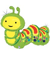 "32"" Holographic Shape Balloon Caterpillar"