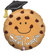 "29""Foil Shape Balloon Smart Cookie Grad"
