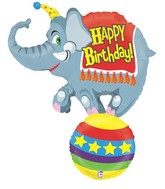 "41"" Foil Shape Balloon Circus Elephant Birthday"