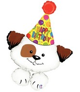 "37"" Foil Shape Packaged Birthday Party Puppy"