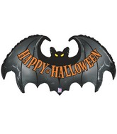 "42"" Foil Shape Balloon Spooky Bat"