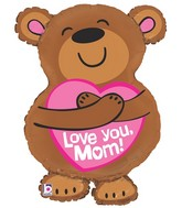"28"" Foil Shape Balloon Packaged Big Hug - Love You Mom"