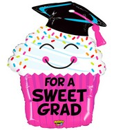 "30"" Mighty Bright Shape Balloon Mighty Grad Cupcake"