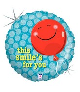"18"" Holographic Balloon Packaged This Smile&#39s For You"