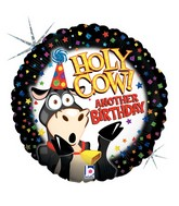 "18"" Holographic Balloon Holy Cow Birthday"