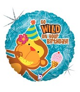 "18"" Holographic Balloon Wild Birthday Wishes"