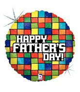 "18"" Holographic Balloon Mosaic Father&#39s Day"