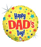 "18"" Holographic Balloon Dad&#39s Day Stars"