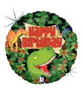 "18"" Holographic Balloon Dinosaur Birthday"