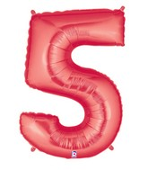 "40"" Large Number Balloon 5 Red"