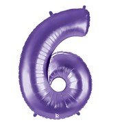 "40"" Large Number Balloon 6 Purple"