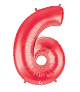 "40"" Large Number Balloon 6 Red"