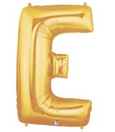 40 large letter balloon e gold
