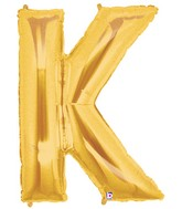 40 large letter balloon k gold