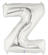 40 large letter balloon z silver