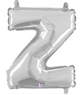 "14"" Valved Air-Filled Shape Z Silver Balloon"