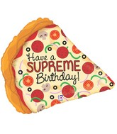 "29"" Foil Shape Supreme Birthday Pizza Balloon"