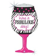 "34"" Holographic Shape Fabulous Day Wine Balloon"