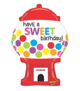 "31"" Mighty Bright® Sweet Gumball Birthday Balloon"