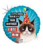 "18"" Balloon Grumpy Cat® Birthday (I Ate Him) Balloon"