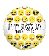 "18"" MAX Float Balloon Emoji Boss's Day"