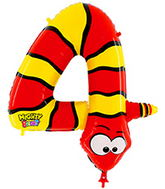 "40"" Number 4 ""Snake"" Jumbo Balloon (Polybag)"