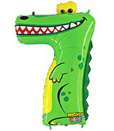 "40"" Number 7 ""Crocodile"" Jumbo Balloon (Polybag)"