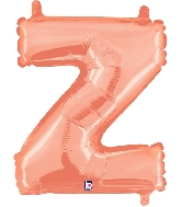 "14"" Airfill with Valve Only Letter Z Rose Gold Balloon"