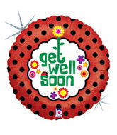 "9"" Airfill Only Get Well Dots Balloons"