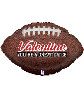 "29"" Foil Balloon Great Catch Valentine Football"