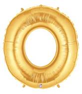 "7"" Airfill (requires heat sealing) Number Balloon 0 Gold"